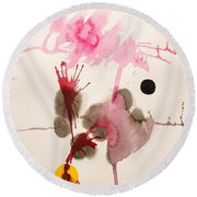 Table D' Hote Round Beach Towel by Roberto Prusso