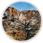 Round Beach Towel featuring the photograph Table Mountain In Winter 42 by Mark Myhaver