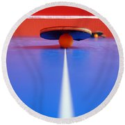 Table Tennis Round Beach Towel