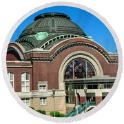 Tacoma Court House At Union Station Round Beach Towel by Tikvah's Hope