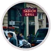 Tadich Grill Round Beach Towel
