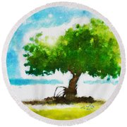 Summer Magic Round Beach Towel