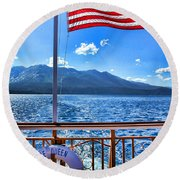 Tahoe Queen Lake Tahoe By Diana Sainz Round Beach Towel