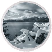 Tahoe Wonderland Round Beach Towel