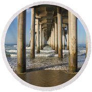 Take A Break Round Beach Towel