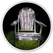 Adirondack Chair Painted With Light Round Beach Towel