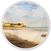 Take A Walk At The Beach Round Beach Towel