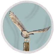Take Off Round Beach Towel by Heather King
