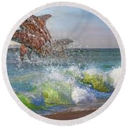 Taken For Granted Round Beach Towel by Betsy Knapp