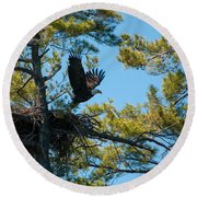 Taking Flight Round Beach Towel