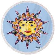 Talavera Sun-blue Round Beach Towel
