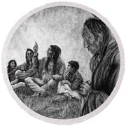 Tales Passed On Round Beach Towel