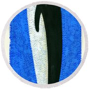 Tall Penguin Round Beach Towel