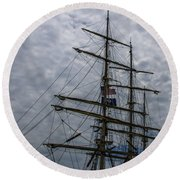 Sailing The Clouds Round Beach Towel by Dale Powell