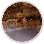 Talus Housefront Room Bandelier National Monument Round Beach Towel