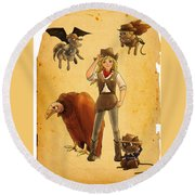 Tammy And The California Gold Rush Round Beach Towel by Reynold Jay