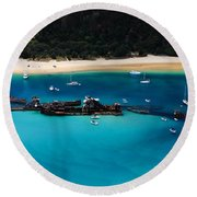 Tangalooma Wrecks Round Beach Towel