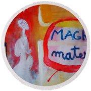 Round Beach Towel featuring the painting Tango by Ana Maria Edulescu