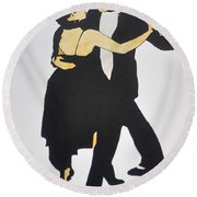 Tango In Buenos Aires Round Beach Towel