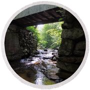 Tannery Hill Bridge Round Beach Towel