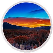 Taos Sunrise X Round Beach Towel
