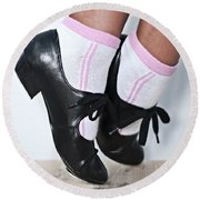 Tap Dance Shoes From Dance Academy - Tap Point Tap Round Beach Towel