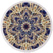 Round Beach Towel featuring the photograph Tapestry Mandala by Deborah Smith