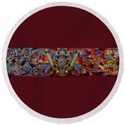 Tapestry Of Gods Round Beach Towel