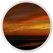 Rappahannock Sunrise II Round Beach Towel by Greg Reed