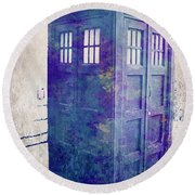 Tardis Round Beach Towel