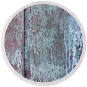 Round Beach Towel featuring the photograph Tarnished Tin by Heidi Smith