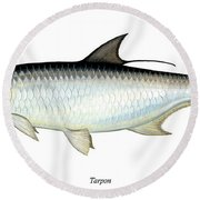 Tarpon Round Beach Towel