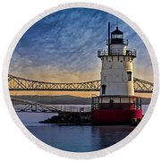 Tarrytown Light Round Beach Towel