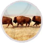 Tatanka Round Beach Towel