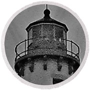 Round Beach Towel featuring the photograph Tawas Point In The Rain by Daniel Thompson