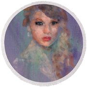 Taylor Round Beach Towel by Scott Bowlinger