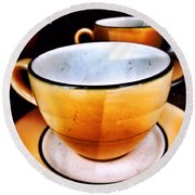 Tea For Two Round Beach Towel by Mark David Gerson