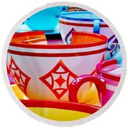 Round Beach Towel featuring the photograph Tea Party by Benjamin Yeager