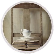 Round Beach Towel featuring the photograph Tea Tales by Amy Weiss