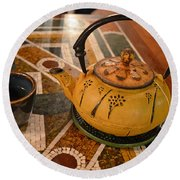 Round Beach Towel featuring the photograph Tea Time In Asia by Robert Meanor