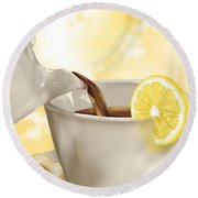 Tea Time Round Beach Towel by Veronica Minozzi