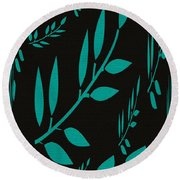 Teal Treasure Round Beach Towel