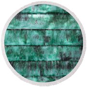 Teal Water Panels Round Beach Towel