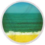 Teal Waters Round Beach Towel