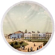 Teatro De Tacon And Part Of Paseo De Round Beach Towel