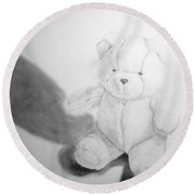 Teddy Round Beach Towel by Tamir Barkan