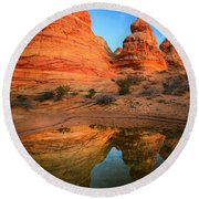 Teepee Reflection Round Beach Towel
