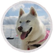 Round Beach Towel featuring the photograph Tehya by Vicki Spindler