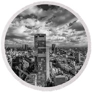 Tel Aviv High And Above Round Beach Towel