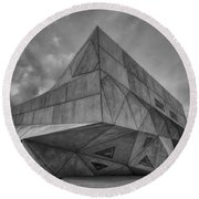 Round Beach Towel featuring the photograph Tel Aviv Museum  by Ron Shoshani